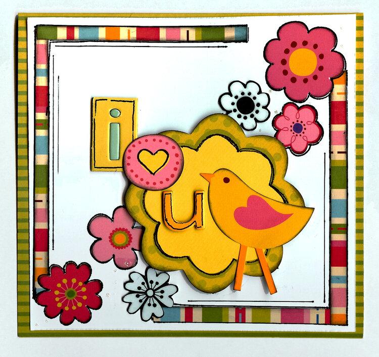 I love u card *My Little Shoebox*