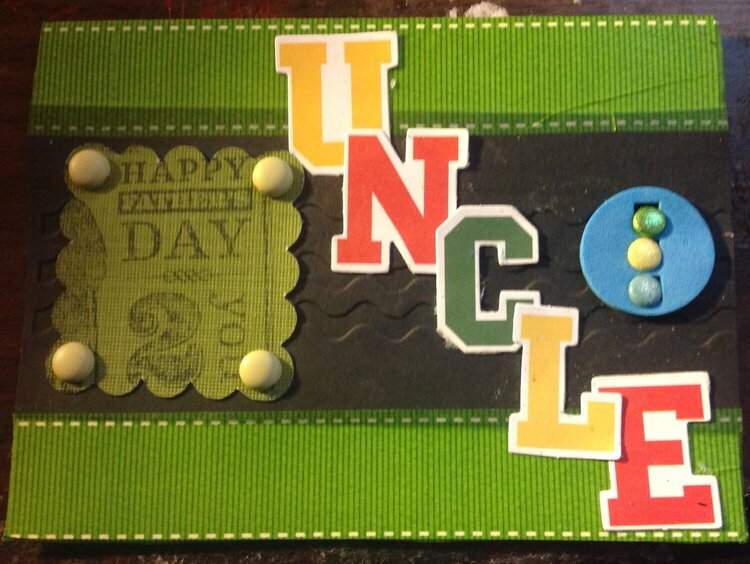 Fathers day card for uncle