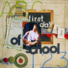 *NEW Bo Bunny* {first day of school}