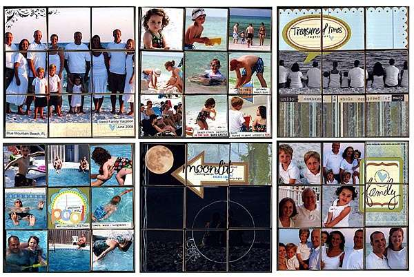 Layouts for Beach Photo Cube Puzzle