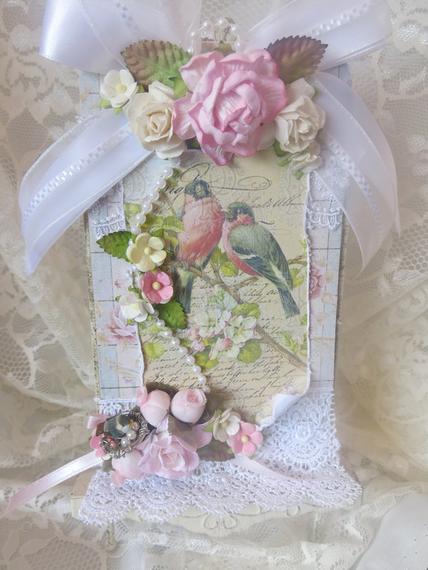 Shabby Chic ***Bird Tag For Swap