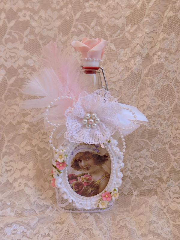 Shabby Chic ***Altered Bottle For Swap