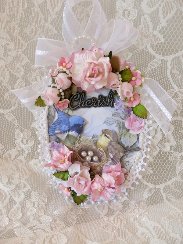 Shabby Chic ***Cherish Bird Tag