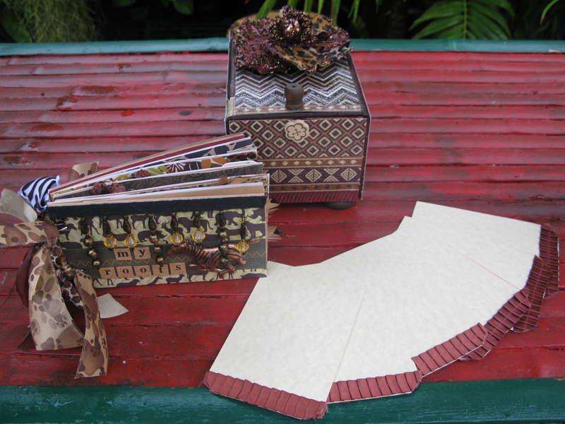 African Keepsake Box & Paperbag Album