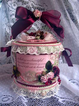Altered Paint Can/ Shabby Chic