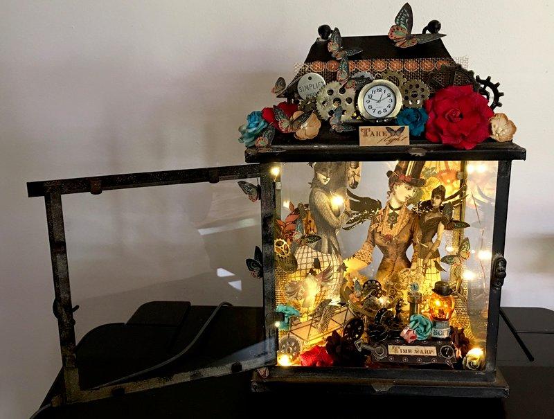 Steampunk Debutante Lantern