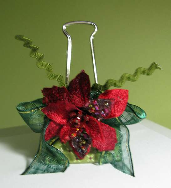 Altered Binder Clip Swap/Christmas