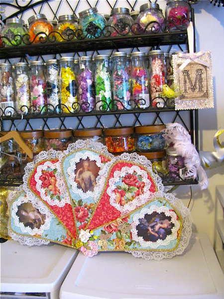 Flowers In Jars & Fan from My Friend LaceyKat
