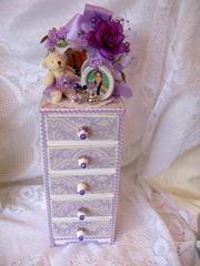 Lavender Jewelry Box/Dresser