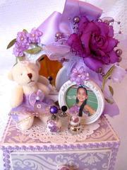 Lavender Jewelry Box/Dresser (closeup)