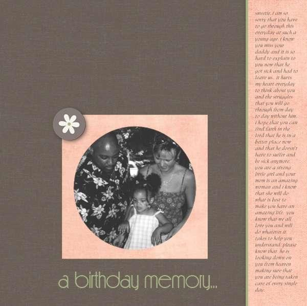 a birthday memory...