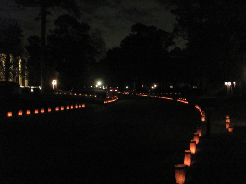 Christmas eve luminaries
