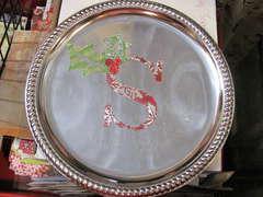 Santas cookie plate
