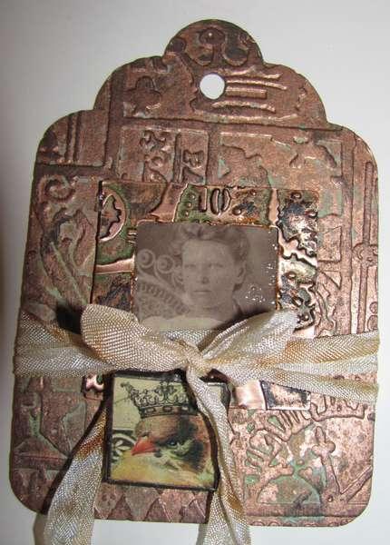 faux copper tag