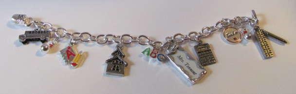 Charm Bracelet for a Teacher