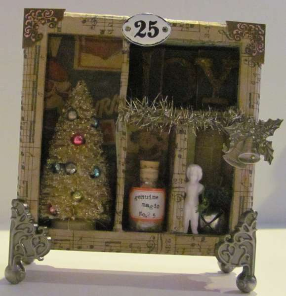 Altered curio for the holidays
