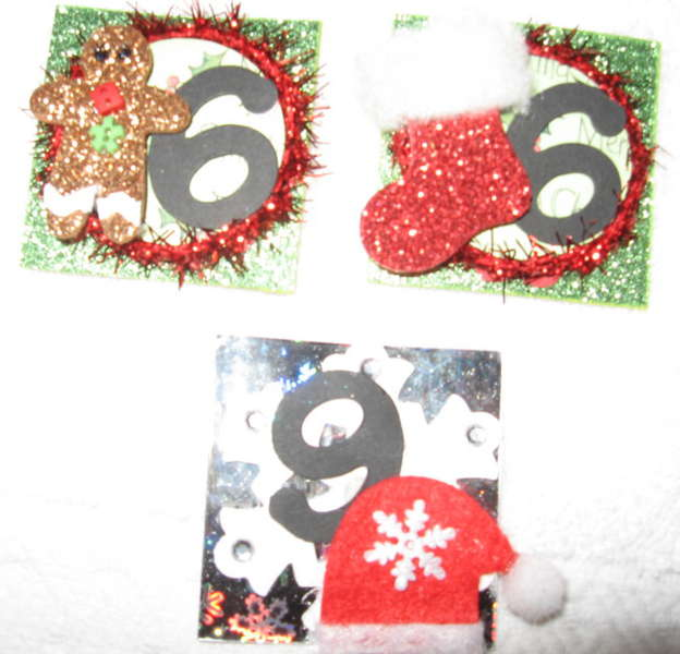 Cookie sheet calender numbers