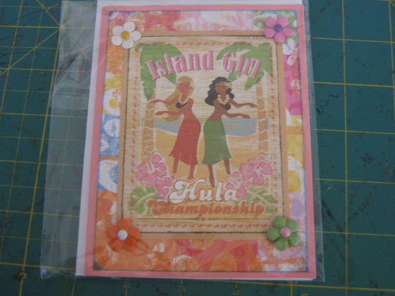 Hula Chicks Card