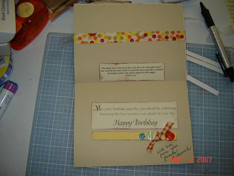 Celebrate birthday card, inside