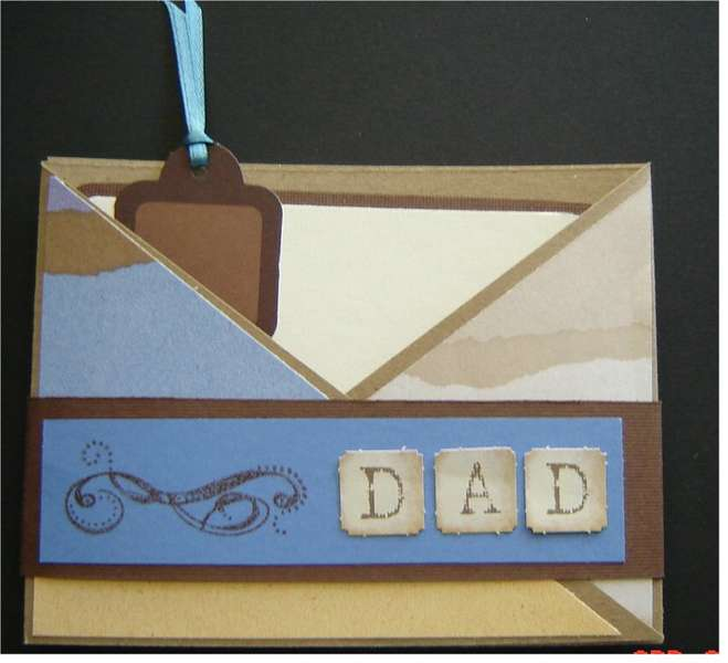 Criss Cross Father's Day card for MAY CARD CHALLENGE