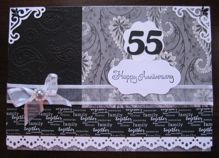 55th Anniversary card