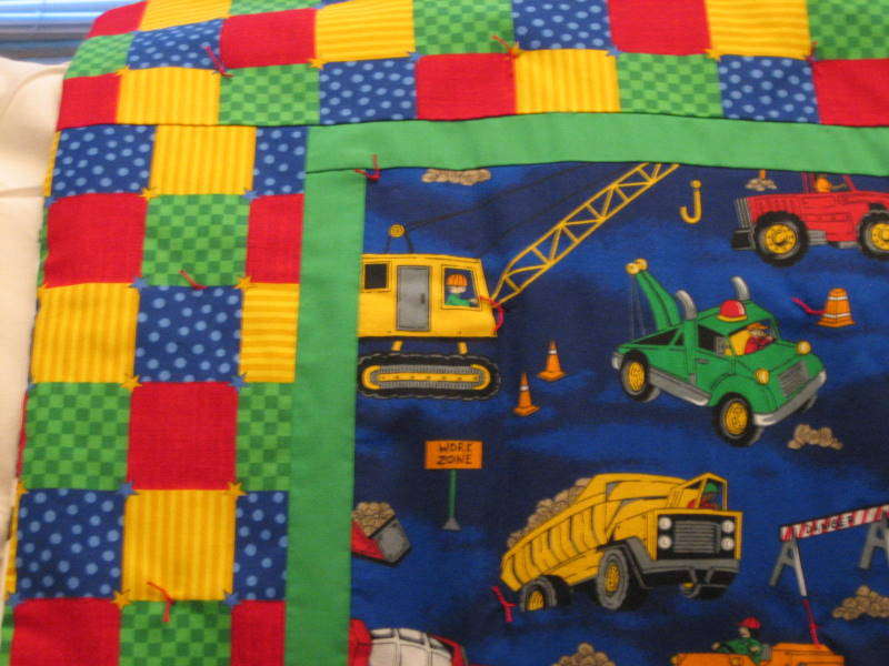 Truck quilt (front detail)