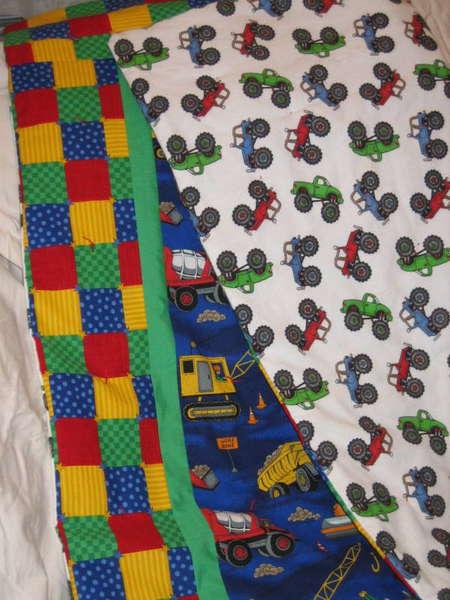 Truck quilt (front & back)