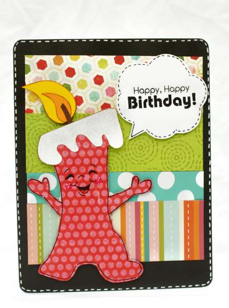 Candle Bday Card
