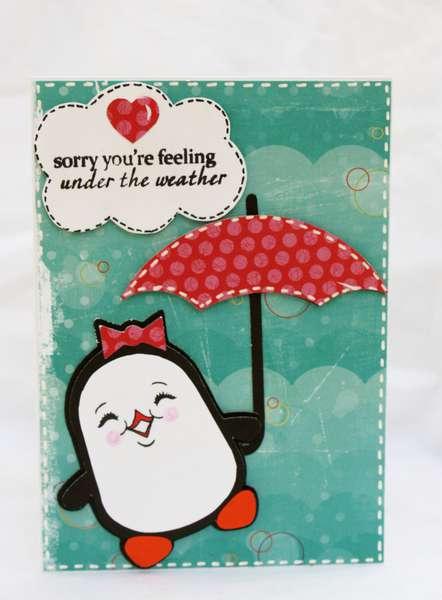 Get Well Penguin Card