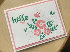 Floral Card with Tonic Dot and Drop