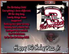 TRIBUTE TO DALE EARNHARDT SR, BIRTHDAY PAGE FOR SS