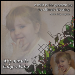 MY MIRACLE BABY'S BABY