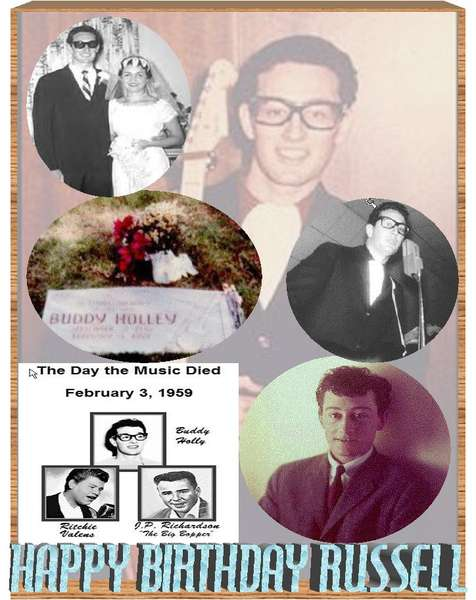 DAY MUSIC DIED - TRIBUTE TO BUDDY HOLLY, SEPT 7TH ALSO HUSB BIRTHDAY