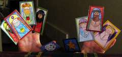 Christmas Finger Puppets in use