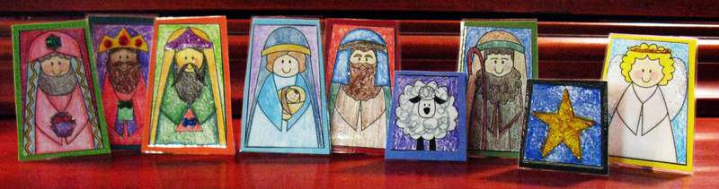 Christmas Nativity Finger Puppets--Free Printable
