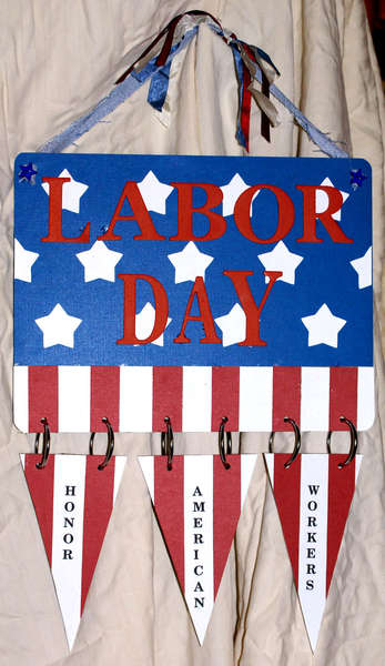 Labor Day wall hanging