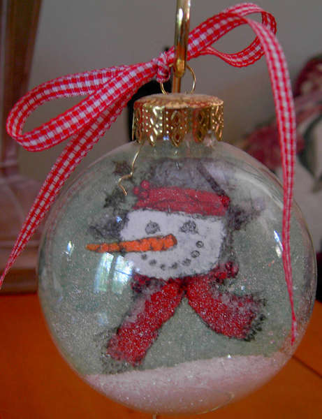 Stamped Glass Ball Ornament