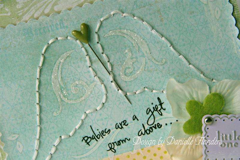 Babies are a Gift from Above card *close up*