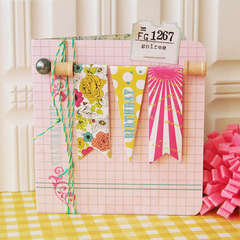 Birthday Banner card *Pink Paislee*