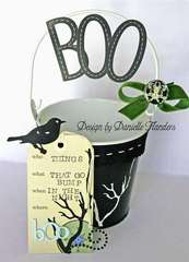 BOO bucket and tag