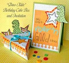 Dino-Mite Cake Box and Invitation