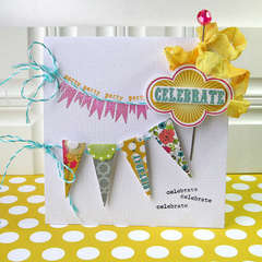 Celebrate card *NEW Pink Paislee*