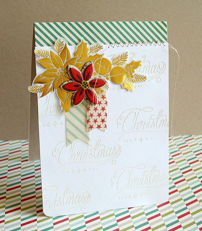 Christmas Embossed card *Pink Paislee*