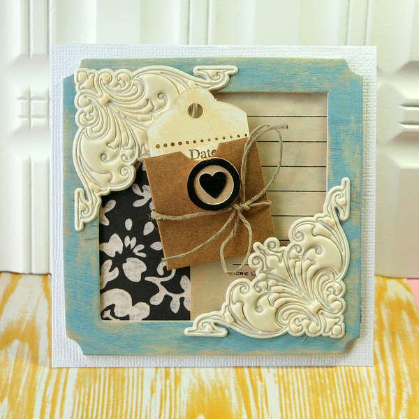 Wooden Frame card