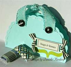 Hugs & Kisses card/gift bag