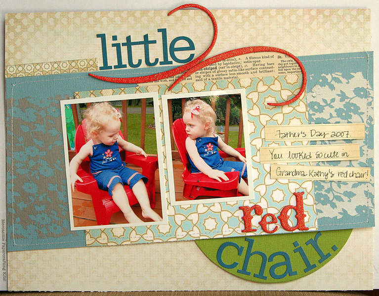Little Red Chair *Feb. Jenni Bowlin kit*