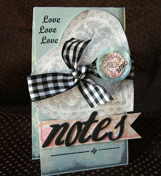Love Notes card *new Tattered Angels*