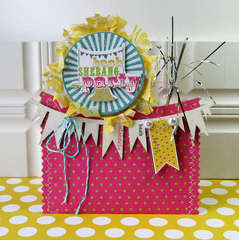 Party pocket card *NEW Pink Paislee*