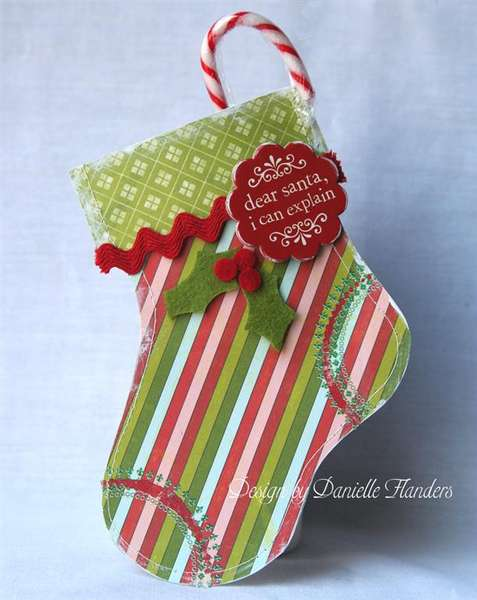 Stocking gift card holder *Paper Crafts, Holiday Cards and More 2008*