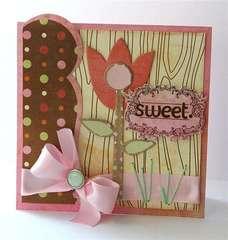 Sweet card *NEW Pink Paislee*